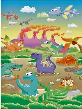 【 0.8CM单面】恐龙世界