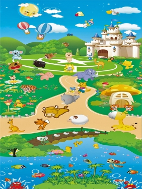 南京【 0.8CM双面】动物乐园